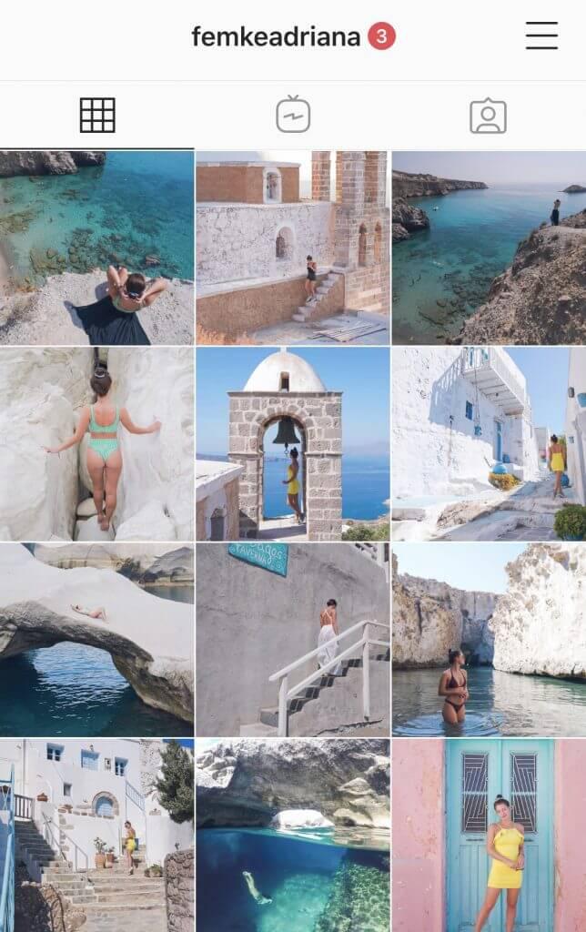 planning instagram feed
