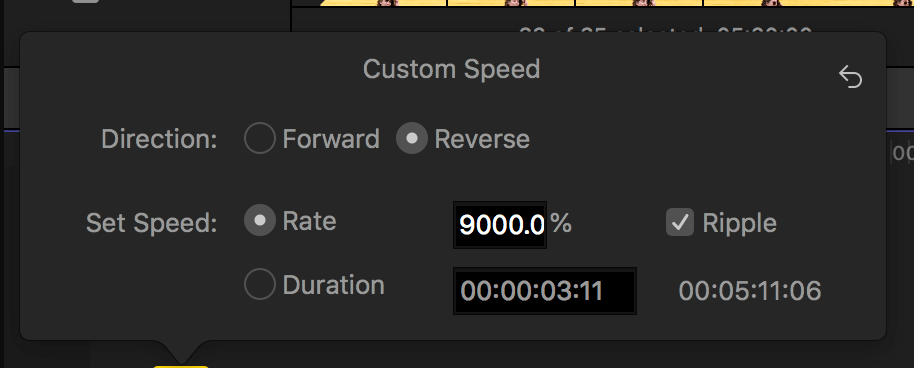 how to reverse video final cut pro